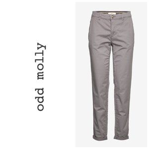 ANTHRO ODD MOLLY Grey Chino Pants